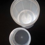 Transparent Empty Plastic Deodorant Container - Twist-Up, Top-Fill, Cylinder (top view ready to be filled)