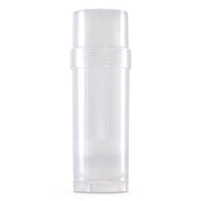 (Clear) Top-Fill Cylinder - 60g 2.2 oz Empty Plastic Deodorant Container DIY Deodorant