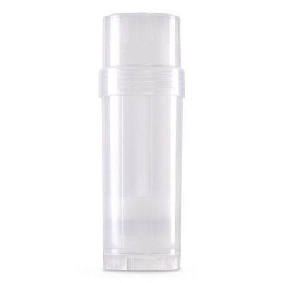 (Clear) Top-Fill Cylinder - 60g 2.2 oz Empty Plastic Deodorant Container DIY Deodorant