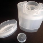Empty Deodorant Containers – Natural Translucent Plastic, Twist-up, Bottom-fill: Top lid and bottom cap off