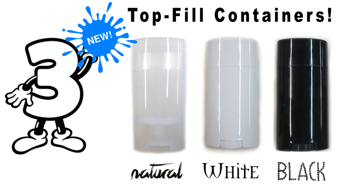 3 new top-fill DIY Deodorant Containers www