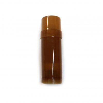 Brown Transparent Empty Plastic Deodorant Container - Twist-Up, Top-Fill, Cylinder with lid ON - Main