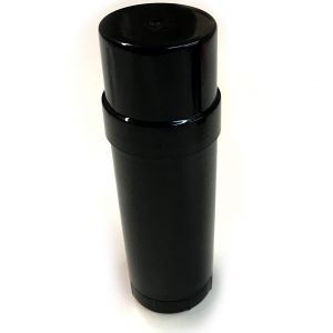 (Black) Top-Fill Cylinder - Empty Plastic Deodorant Container DIY Deodorant (Angle View)