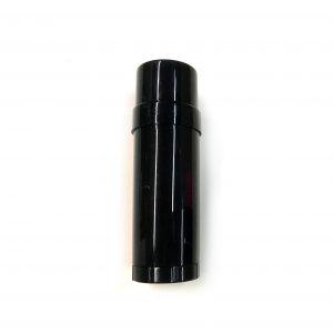(Black) Top-Fill Cylinder - Empty Plastic Deodorant Container DIY Deodorant
