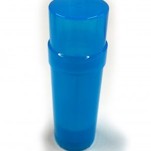 (Blue) Top-Fill Cylinder - Empty Plastic Deodorant Container DIY Deodorant www.DeodorantContainer.com