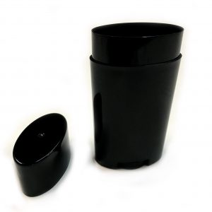 Classic Top Fill (Black) - Empty Plastic Deodorant Container DIY Deodorant
