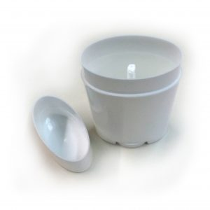 Classic Top Fill (White) Angle Lid Off - DIY Deodorant Containers