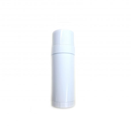 (White) Top-Fill Cylinder - Empty Plastic Deodorant Container DIY Deodorant