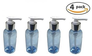 Blue Boston Round with Silver Lotion or Soap Pump (4-Pack)