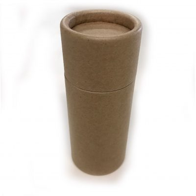 Empty Cardboard Deodorant Container, biodegradable, top-fill, push-up style