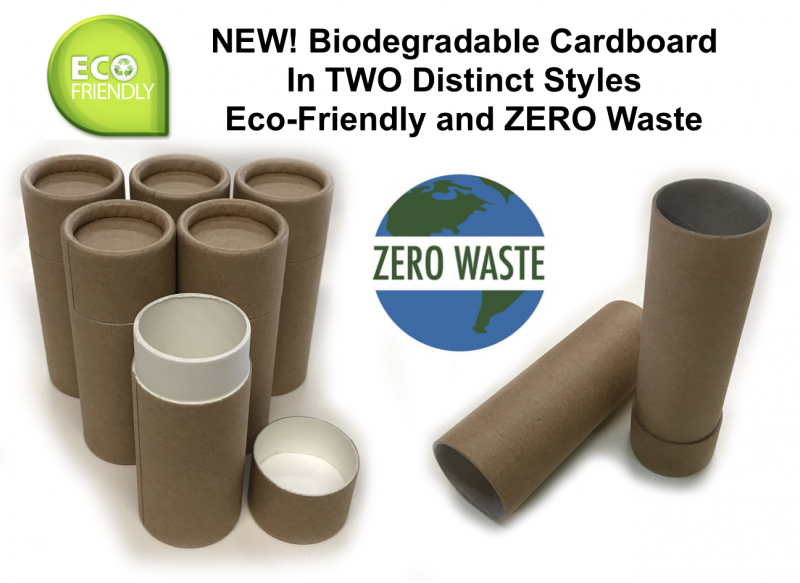 Biodegradable Cardboard Deodorant Containers - ZERO Waste