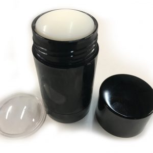 Deodorant Container - Bottom-Fill Black - Filled and finished, top lid off