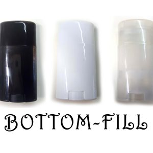 Bottom-Fill Oval Deodorant Containers - All Three CONTAINERS