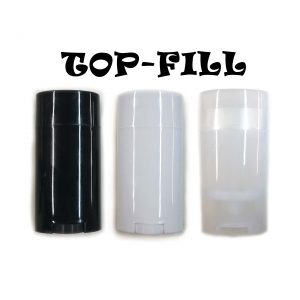 Top-Fill Empty Oval Deodorant Containers - All Three CONTAINERS