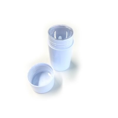 BULK QUANTITY – Empty Deodorant Containers – Cylinder Style, Hard Plastic, Reusable, Recyclable, Twist-up, 2.0 oz, Bottom-fill