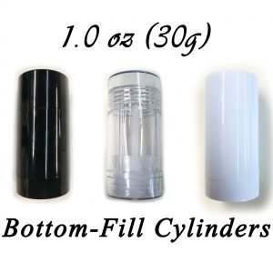 1.0 oz (30g) bottom-fill cylinders
