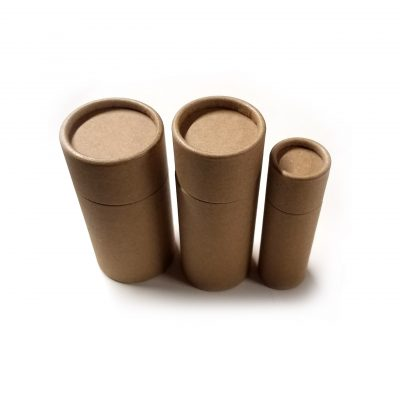 – FREE SHIPPING – Empty Cardboard Deodorant Containers, Biodegradable, Top-Fill, Push-Up (Style #1)