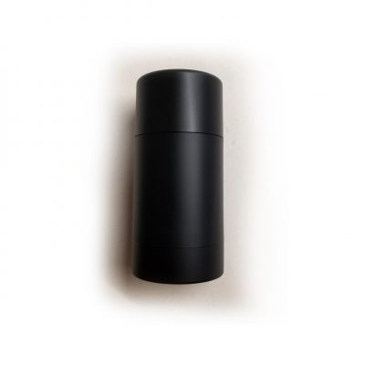 Bottom-fill matte black 2.0 or 2.65 oz containers (50g or 75g)