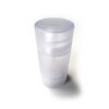 Bottom-fill matte clear 2.65 oz cylinder containers (75g)