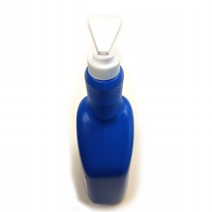 32 oz blue bottle with white pump_front for hand sanitizer or lotion