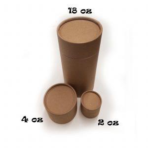 Empty Cardboard Jars Trio
