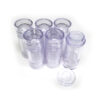 Clear Plastic Bottom-Fill Cylinders - .5 oz (15g) Empty Deodorant Container or chapstick container