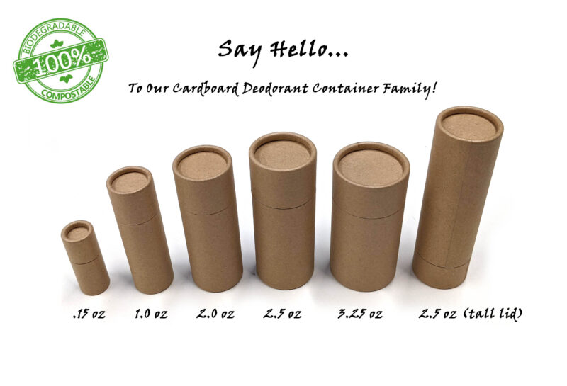 All Natural Empty Cardboard Deodorant Containers