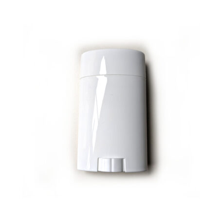 Empty deodorant container - 75g Bottom-Fill Oval (White) - Main