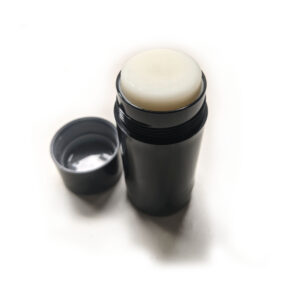 Empty Deodorant Container - 90g Cylinder Bottom-Fill_filled with lid off