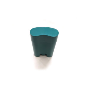 empty deodorant container_little green oval bottle 5g lid on
