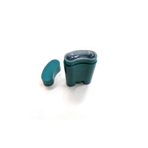 empty deodorant container_little green oval bottle 5g lid off
